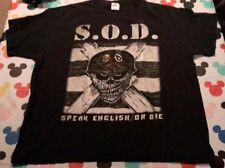 SOD Speak English or Die Size XL T-shirt