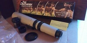 Bausch & Lomb Telescope Discoverer 60mm Zoom 15-60 Caps, Camera Adapter, Mount