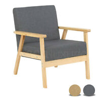 Vintage Armchair Retro Tub Single Seat Sofa Fabric Accent Chair Lounge Fireside
