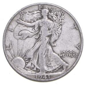 1941-D Walking Liberty 90% Silver US Half Dollar *597