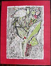 René GENIS (1922-2004): Lithographie originale. Carte de Voeux Proute, 1959.