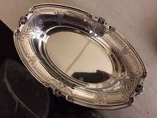 Antique Dominick & Haff Sterling Silver Victorian Neoclassical Bread Tray 305 Gm