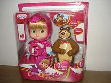 Doll Masha 15 cm and the Bear from Russian cartoon Masha and Bear/Masha i Medved