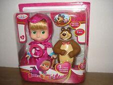 Doll Masha 15 cm and the Bear from Russian cartoon Masha and Bear/Masha i Medved