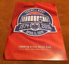 Oilers Final Last Game Rexall Place April 6 Sealed Program Package