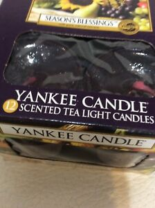 Yankee Candle Twelve (12) Season's Blessings Tealights New 1 Box Fast Ship Plum