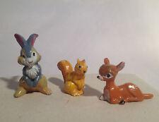 BAMBI PANPAN ECUREUIL 3 Figurines JIM ancien jeu jouet dessin animé Disney 1960