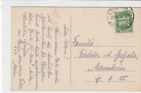 germany 1924 buildings stamps card ref 18945