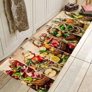 Fresh Fruit Juice Pattern Hallway Carpet Kitchen Entrance Door Mat Anti Slip Rug