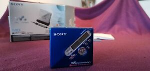 Sony MD MZ-N710 MiniDisc Player: BLUE With Box And Accessories - Great Condition