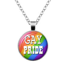 Jewelry With Rainbow Love Wins jewelry Gay Pride Necklace Same Sex Lgbt Silver