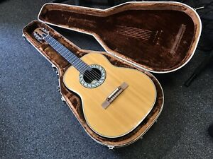 Ovation 1616 vintage classical acoustic electric guitar 1985 made in USA
