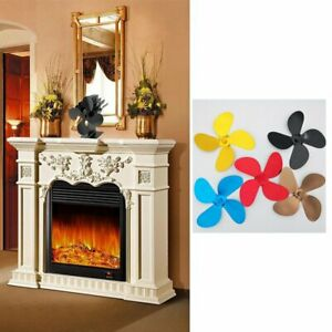4 Blade Heat Powered Stove Eco Friendly Heated Fan Fireplace For Wood Burn 8#