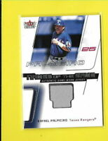 D6327 RAFAEL PALMEIRO 2002 FLEER GENUINE NAMES OF THE GAME RANGERS JERSEY CARD