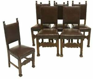 Antique Chairs, Side, Italian Renaissance Revival, Set of Four, early 1900s!!