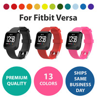 Band For Fitbit Versa Small/Large Silicone Rubber Wristband Strap Replacement