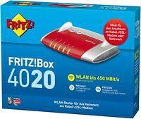 AVM FRITZ!Box 4020 WLAN Router 450Mbit/s WPS NAS DLNA Mediaserver OVP