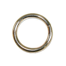 """Solid Welded O Ring Nickel Plated 10/pk 1.25"""""""