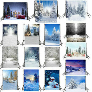 Studio Vinyl Photography Backdrop Snowscape Photo Background Prop Gift 3x5/5x7ft
