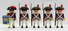 4 x francés soldados + oficial marine infantería Playmobil a garde Napoleón