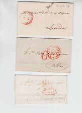 pre-1848 three antique stampless covers,     f1696
