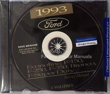 1993 Ford F150 F250 F350 Truck Econoline Bronco Factory Shop Service Manual CD