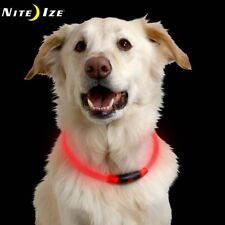 Nite Ize Nite Howl LED Safety Dog Collar RED - Flash or Glow Light