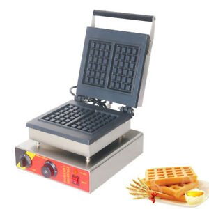 Commercial Electric Non-stick Waffle Baker Waffle Machine 50-300℃ 0-5 min Timer