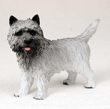 Cairn Terrier Hand Painted Collectible Dog Figurine Gray