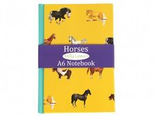 Equestrian Milly Green A6 lined notebook horse school gift easter