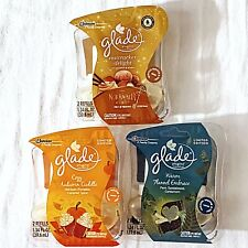 3 Pkgs Glade Plug Ins Scented Oil Nutcracker Delight Cozy Autumn Warm Flannel