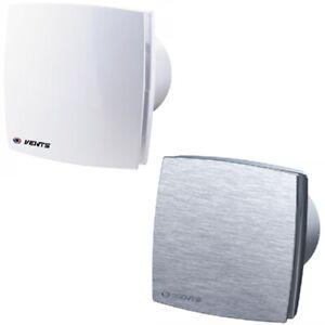 Badlüfter Ventilator Wandlüfter Weiß Alu 100 125 150 Abluft Timer Feuchtesensor