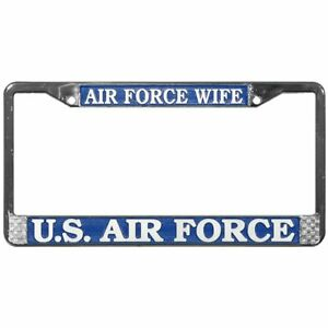 US Air Force Wife Metal License Plate Frame OFFICIALLY LICENSED