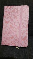 A6 Flower Butterfly Bird Design PUC Cover hardback notebook Light Pink