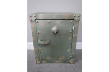 Industrial Safe Style Aged Metal Storage Unit / Bedside Cabinet Boys / Man cave