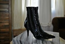 BNWB Jeffrey Campbell Patent Real Leather Black Ankle Boots UK 3 RRP £185