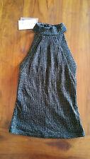 Bardot Inez Lurex Top Black & Gold knit lined sz6 BNWT RRP$69.95 free post D92