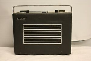 HACKER RP 37A VHF HERALD PORTABLE TRANSISTOR FM RADIO VINTAGE