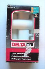 New Delta White Metal Surface Mount Toilet Paper Holder 74027WH