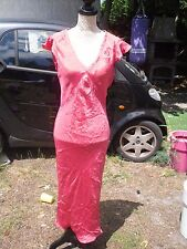 Robe longue rose fuchsia femme SANDWICH taille 38