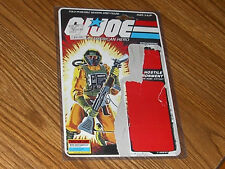 1985 Vintage GI Joe Airtight Uncut File Card full cardback filecard in case 2