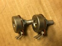 Matched Pair NOS Vintage CTS 250k ohm Guitar Potentiometers 1974 Linear Taper