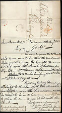 SCOTLAND 1808 DATED OVAL PAID + FALKIRK MILEAGE CIRCLE to BANK in EDINBURGH