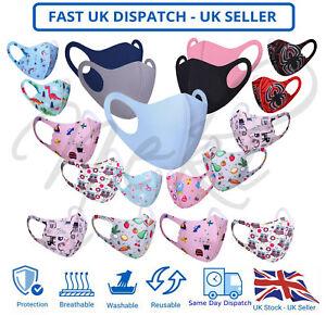 Children Kids Face Mask Mouth Protection Cover Washable Reusable Unisex Sale