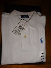Boys Classic SS Polo Shirt by Ralph Lauren 3y 100 Cotton White 3 Years