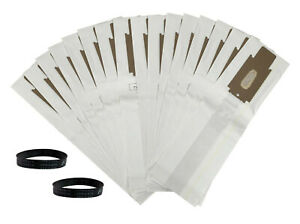 16 Allergy Bags for ORECK XL XL2 XL21 Upright Vacuum Type CC W/ 2 BELTS