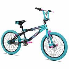 "20"" Kent Trouble Girl Bike Aqua Pink Black Bicycle Child One Speed 12 Inch Fram"