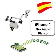 CABLE FLEX CONECTOR JACK AUDIO VOLUMEN MUTE IPHONE 4 BLANCO NUEVO. ESPAÑA