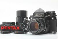 【MINT /2Lens + Grip +Converter2x】 Pentax 6x7 67 TTL Late SMC T 105mm 200mm JAPAN