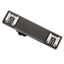 TTL Flash Speedlite Dual Hot Shoe Bracket Adapter for Nikon D850 D810 D750 D3400